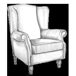 Fotelja ikona - Detal fotelje