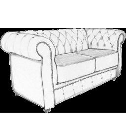 Sofa crtez ikona - Detal sofe