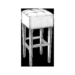 Barska stolica crtez - Detal barske stolice bez naslona