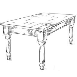 Kuhinjski sto crtez ikona - Detal stolovi