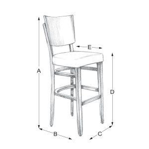 Lisa fit boyd Z bar barska stolica dimenzije - Detal