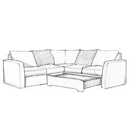 Ugaone garniture crtez ikona - Detal sofe