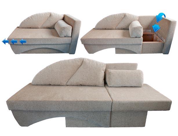 Ugaona Sofa Bed na razvlačenje - Detal Nameštaj